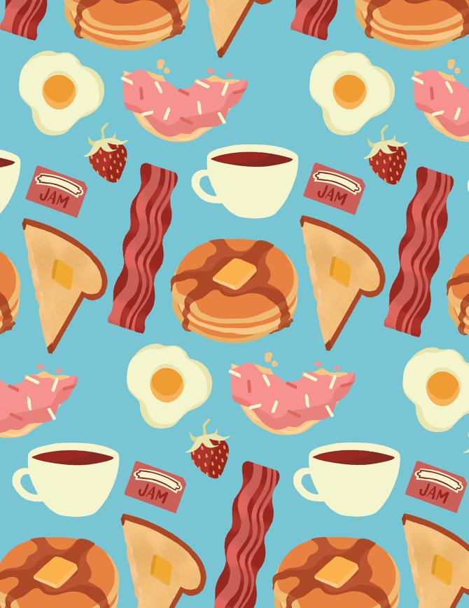 breakfast-pattern-rgb_670.jpg (670×867) | Pattern | Pinterest